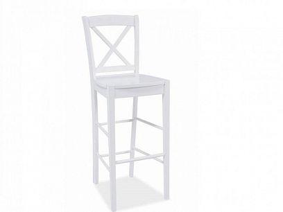 C 964 Barová židle Krokus, Bílá/chrom