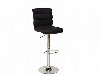 C-617 Barová židle, Černá/chrom