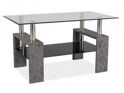 Lisa III Konferenční stolek, šedý kámen/sklo