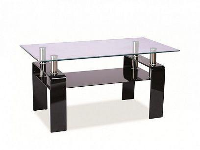 Stella Konferenční stolek, černá/sklo
