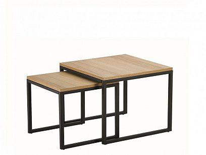 Larosa Duo Konferenční stolky, černá/dub
