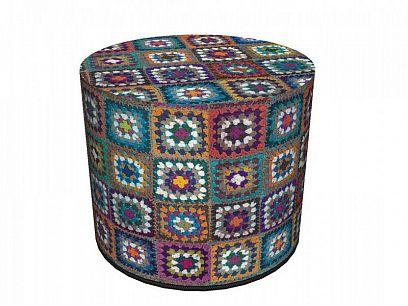 Colours Taburet, Háčkovaná deka
