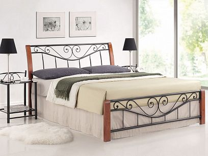 Parma Kovová postel 140 třešeň antická