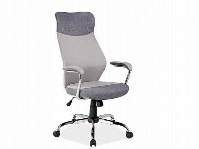 Q-319 Kancelářská židle, koženka šedá