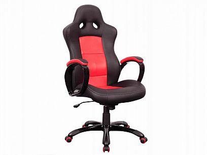 Q-029 Kancelářská židle, červená/černá
