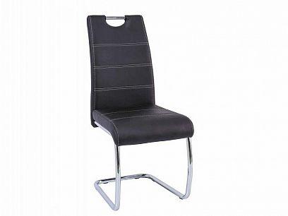 H-666 Jídelní židle, černá