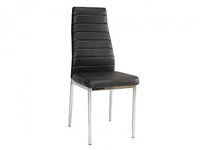 H-261 Bis alu Jídelní židle, Černá/nohy aluminium