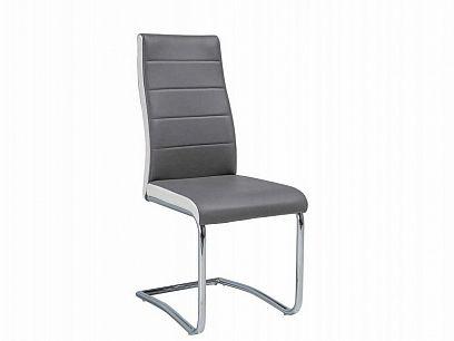 H-353 Jídelní židle, šedá/ bílá