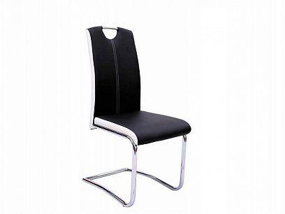 H-341 Jídelní židle, černá/bílá