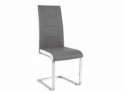 H-629 Jídelní židle, šedá/ bílá