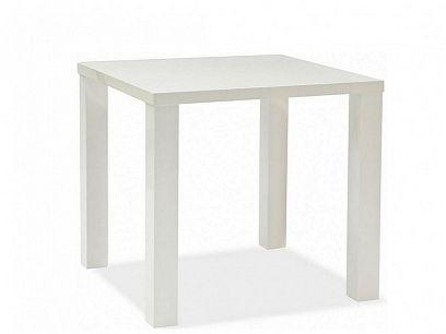Montego Jídelní stůl 60x80, Bílý vysoký lesk