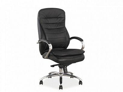 Q-154 Kancelářská židle, Kůže černá