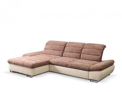 ROMANTIKA KLASIK OSBL-3FBP rohová sedací souprava, pravá, hnědá/béžová