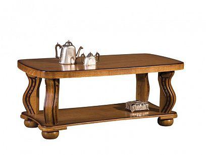 PORTOS Konferenční stolek, masiv s patinou