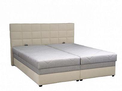 Romana manželská postel 180 cm, šedivá/béžová