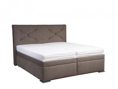 CHICAGO manželská postel 180 cm, hnědá