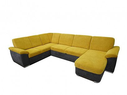 Borneo U sedací souprava, pravá, šedá/žlutá