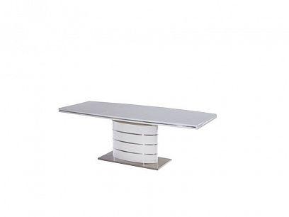FANO Jídelní stůl 160, bílý vysoký lesk