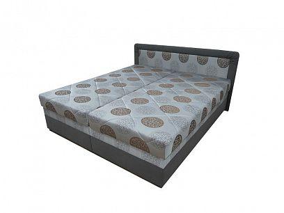 BOLOGNA čalouněná postel 180, hnědá