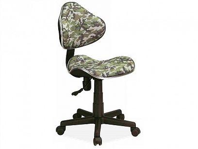 Q-G2 kancelářská židle, maskáč, zelená/béžová