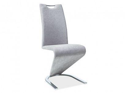 H-090 jídelní židle, světle šedá látka/chrom