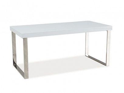 ROSA konferenční stolek chrom, bílý lesk
