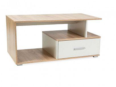 SIA konferenční stolek, dub sonoma/bílá