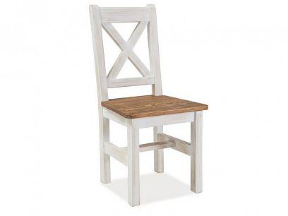 Provance New jídelní židle, dub medový/borovice bílá patina