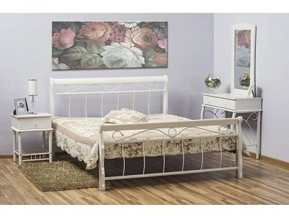 Venecia Kovová postel 120, Bílá
