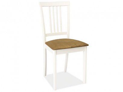 CD-63 jídelní židle, bílá/látka béžová