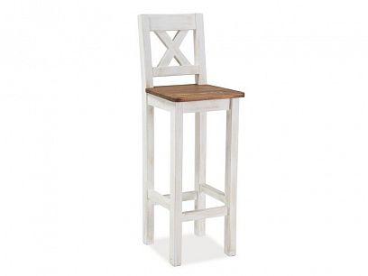 POPRAD barová židle, dub medový/borovice bílá patina