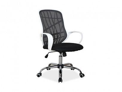 DEXTER kancelářská židle, černobílá