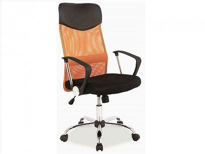 Q-025 Kancelářské křeslo, oranžová/černá ekokůže