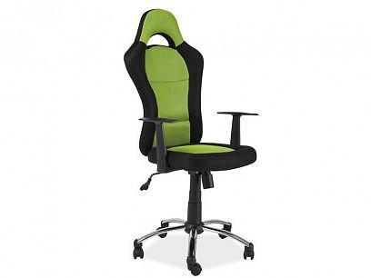 Q-039 Kancelářské křeslo , černá/zelená