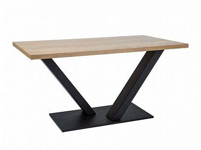 VENTOR 150 Jídelní stůl, dub/černá