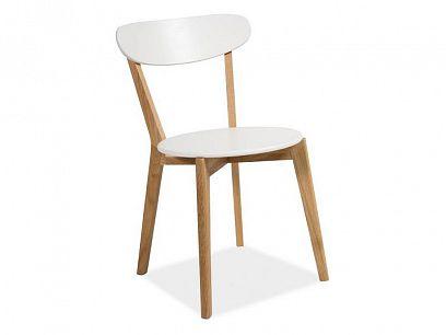MILOS jídelní židle bílá/dub