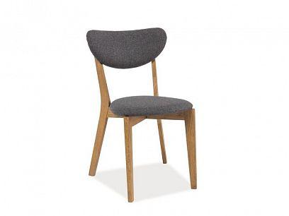 ANDRO jídelní židle, šedá/dub