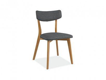KALI jídelní židle šedá/dub
