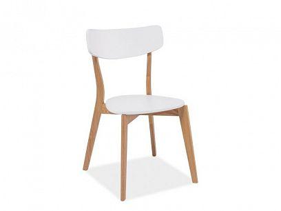 MAILA Jídelní židle, bílá/dub