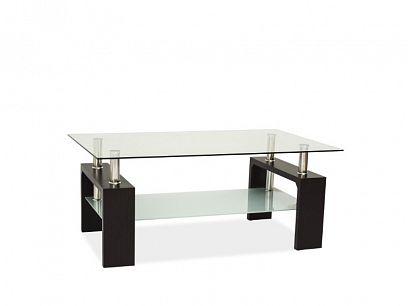 Lisa Basic II konferenční stolek, wenge/sklo
