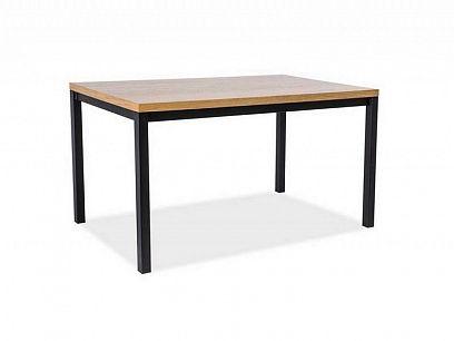 NORINO 120 jídelní stůl, dub/černá