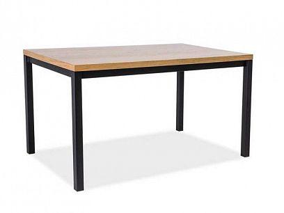 NORINO 180 jídelní stůl, dub/černá