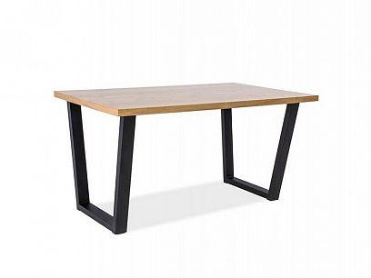 VENROLINO 150 jídelní stůl, dub/černá