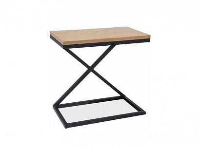 LEON II odkládací stolek, dub/černá