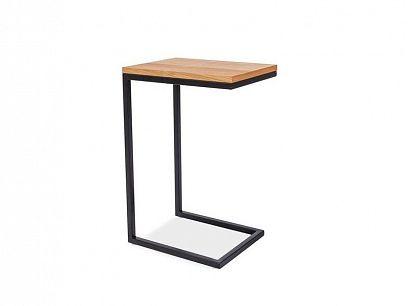 LAROSA C odkládací stolek, dub/černá