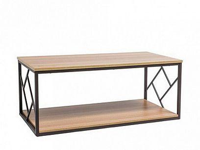 PABLO L konferenční stolek, dub/tmavě hnědá