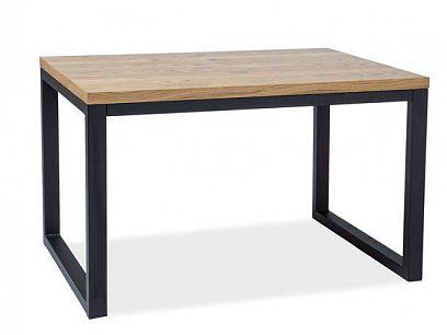 LASO II Jídelní stůl 120, dub/černá