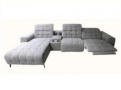 LUZON relaxační elektrická sedací souprava pravá, světle šedá