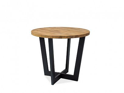 CONARE  Jídelní stůl, dub masiv/černá