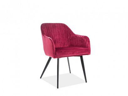 ELINA VELVET jídelní židle, vínová